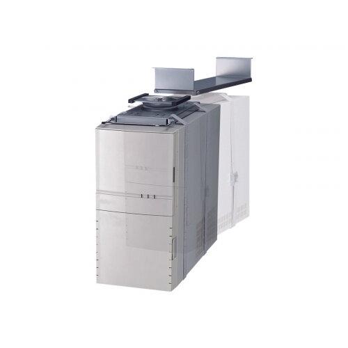 NewStar Under Desk PC Mount (Suitable PC Dimensions -  Height: 0-55 cm / Width: 5-24 cm) - System unit holder - under-desk mountable - silver