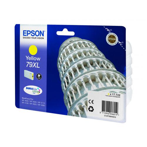 Epson 79XL - 17.1 ml - XL - yellow - original - ink cartridge - for WorkForce Pro WF-4630DWF, WF-4640DTWF, WF-5110DW, WF-5190DW, WF-5620DWF, WF-5690DWF
