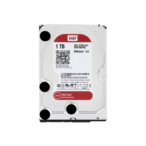 "WD Red NAS Hard Drive WD10EFRX - Hard drive - 1 TB - internal - 3.5"" - SATA 6Gb/s - buffer: 64 MB - for My Cloud EX2; EX4"
