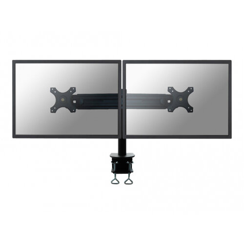 "NewStar Tilt/Turn/Rotate Dual Desk Mount (clamp) for two 19-30"" Monitor Screens, Height Adjustable - Black - Desk mount for 2 LCD displays - black - screen size: 19""-30"""