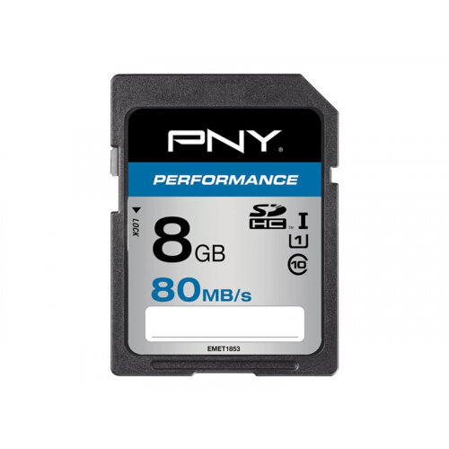 PNY Performance - Flash memory card - 8 GB - UHS Class 1 / Class10 - SDHC UHS-I