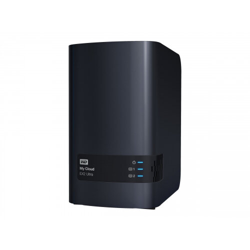 WD My Cloud EX2 Ultra WDBVBZ0040JCH - Personal cloud storage device - 2 bays - 4 TB - HDD 2 TB x 2 - RAID 0, 1, JBOD - RAM 1 GB - Gigabit Ethernet - iSCSI