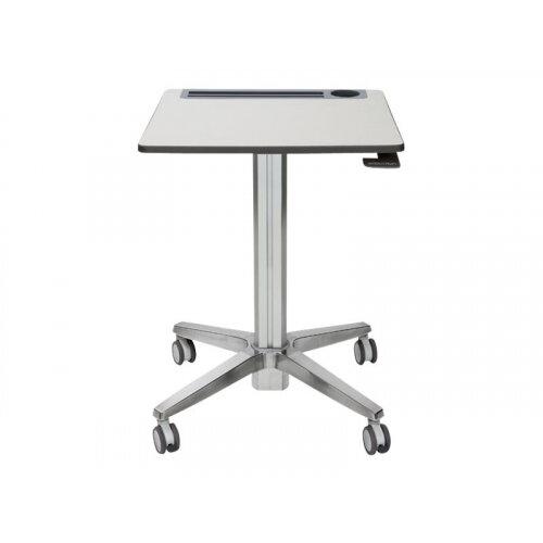 Ergotron LearnFit Adjustable - Table - mobile - school - rectangular - white