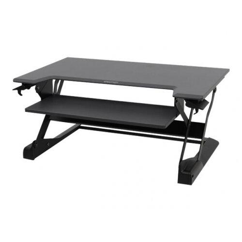 Ergotron WorkFit-TL Sit-Stand Desktop Workstation - Stand for monitor / keyboard - black - table mount