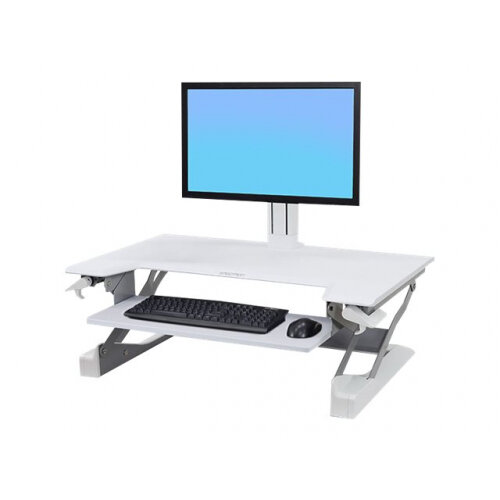 Ergotron WorkFit-TL Sit-Stand Desktop Workstation - Stand for monitor / keyboard - white - table mount