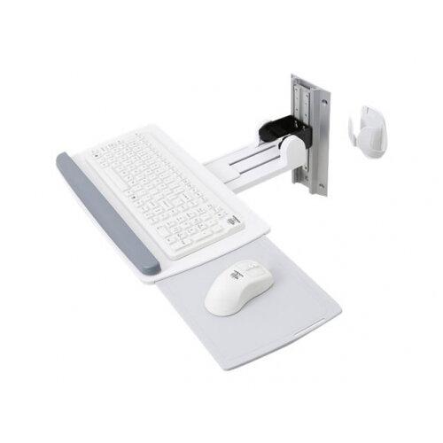 "Ergotron Neo-Flex Keyboard Wall Mount - Mounting kit (wrist rest, mouse pouch, mount bracket, keyboard tray, mounting hardware, wall track 10"") for keyboard / mouse - white"
