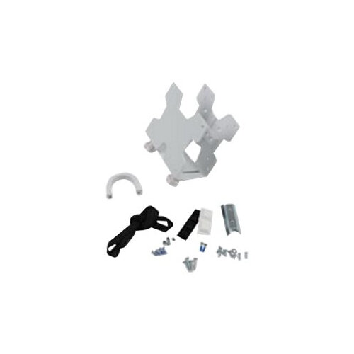 Ergotron Thin Client Mount - Mounting kit (CPU holder, mounting hardware, strap, mounting pads) for personal computer - white - pole mount, under-the-desk