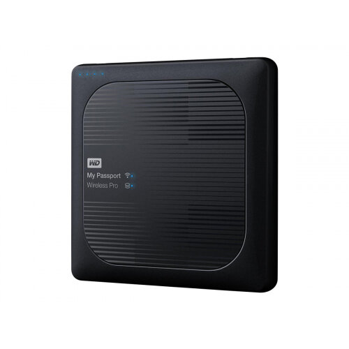 WD My Passport Wireless Pro WDBP2P0020BBK - Network drive - 2 TB - HDD 3 TB x 1 - RAM 512 MB - USB 3.0 / 802.11ac