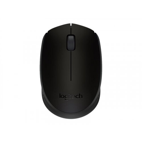 Logitech M171 - Mouse - right and left-handed - wireless - 2.4 GHz - USB wireless receiver - black
