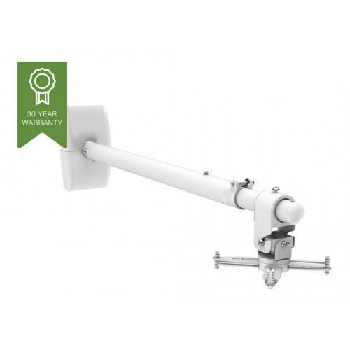 Vision Techmount TM-ST2 - Mounting kit (wall bracket, pole) for projector (telescopic) - satin white