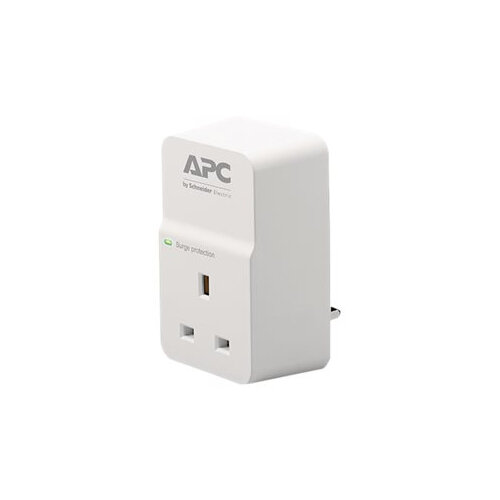 APC SurgeArrest Essential - Surge protector - AC 230 V - output connectors: 1 - United Kingdom - white