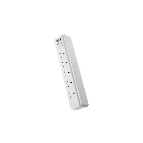 APC SurgeArrest Essential - Surge protector - AC 230 V - output connectors: 5 - United Kingdom - white Ref PM5-UK