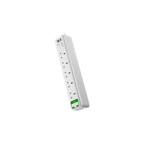 APC SurgeArrest Essential - Surge protector - AC 230 V - output connectors: 7 - United Kingdom - white