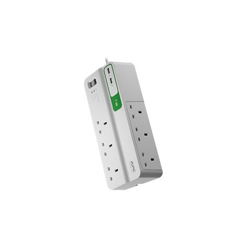 APC SurgeArrest Essential - Surge protector - AC 230 V - output connectors: 8 - United Kingdom - white Ref PM6U-UK