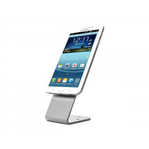 Compulocks HoverTab - Universal Tablet Security Stand - Silver - Mounting kit (stand base, self-adhering mounting plate) for tablet - steel