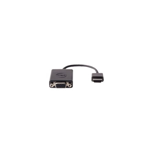 Dell - Video adapter - HDMI / VGA - HDMI (M) to HD-15 (F) - black - for Chromebook 3120, 7310; Inspiron 5458, 5558; Latitude 13 7350, E7250, E7440, E7450