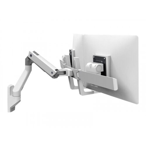"Ergotron HX Dual Monitor Wall Mount Arm - Mounting kit (handle, articulating arm, wall mount, 2 pivots, mounting hardware, hinge, extension part) for 2 monitors - white - screen size: up to 32"" - wall-mountable"
