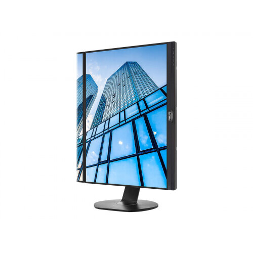 "Philips Brilliance B-line 241B7QPJEB - LED Computer Monitor - 24"" (23.8"" viewable) - 1920 x 1080 Full HD (1080p) - IPS - 250 cd/m² - 1000:1 - 5 ms - HDMI, VGA, DisplayPort - speakers - textured black with black stand"