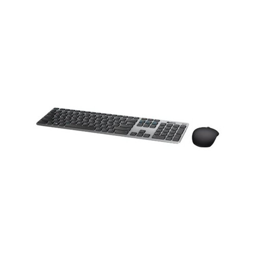 Dell KM717 Premier - Keyboard and mouse set - Bluetooth, 2.4 GHz - UK QWERTY - grey - for Inspiron 3275, 3477, 5477, AIO DT 3275; Precision 7820, 7920; XPS 15 9570