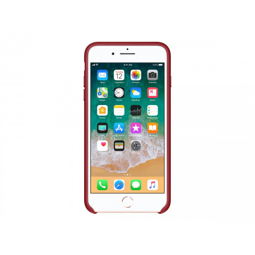 Apple (PRODUCT) RED - Back cover for mobile phone - leather - red - for iPhone 7 Plus, 8 Plus
