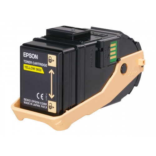 Epson - Yellow - original - toner cartridge - for AcuLaser C9300D2TN, C9300D3TNC, C9300DN, C9300DTN, C9300N, C9300TN