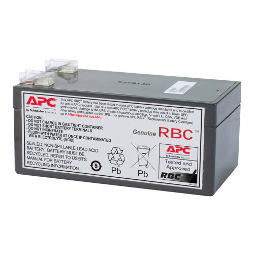 APC Replacement Battery Cartridge #47 - UPS battery - 1 x Lead Acid 3200 mAh - black - for SurgeArrest + Battery Backup 325VA