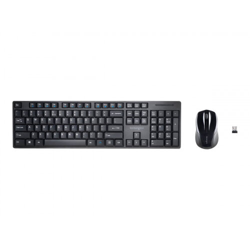 Kensington Pro Fit Low-Profile Desktop Set - Keyboard and mouse set - wireless - 2.4 GHz - UK layout