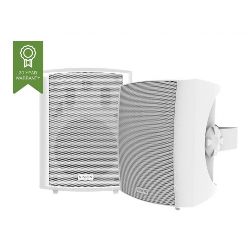 Vision SP-1800 - Speakers - for PA system - 50 Watt - 3-way - white