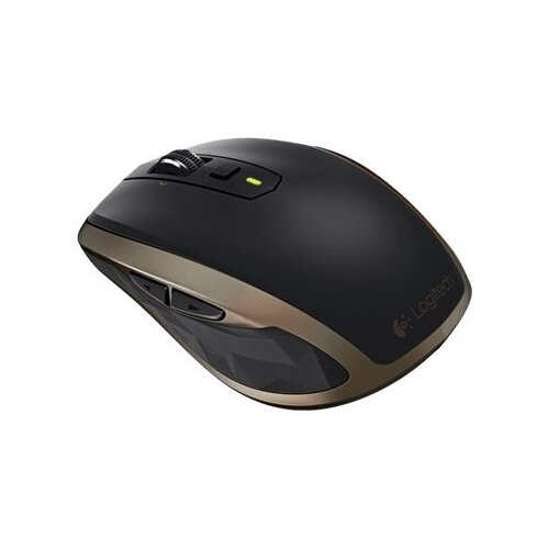 Logitech MX Anywhere 2 - Business Edition - mouse - right-handed - laser - 7 buttons - wireless - Bluetooth, 2.4 GHz - USB wireless receiver - black