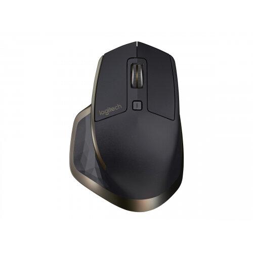 Logitech MX Master - Mouse - laser - 5 buttons - wireless - Bluetooth, 2.4 GHz - USB wireless receiver - meteorite