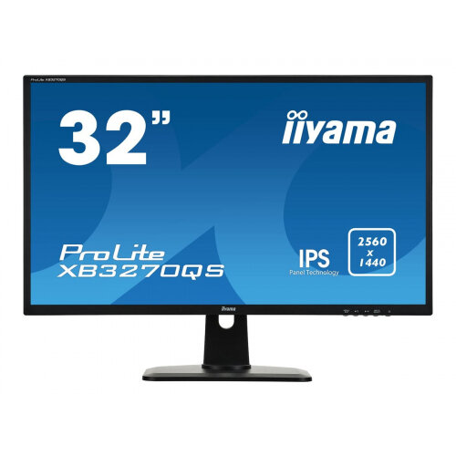 "Iiyama ProLite XB3270QS-B1 - LED Computer Monitor - 32"" (31.5"" viewable) - 2560 x 1440 WQHD - IPS - 300 cd/m² - 1200:1 - 4 ms - HDMI, DVI, DisplayPort - speakers - black"