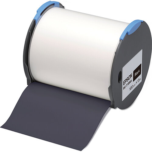 Epson RC-T1BNA - Polyolefin - self-adhesive - black - Roll (10 cm x 15 m) 1 roll(s) plastic tape - for LabelWorks Pro100