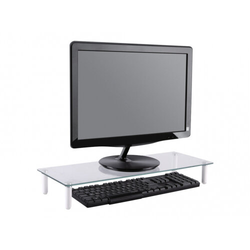 NewStar Transparent Monitor Stand (Clear Acrylic) - Stand for Monitor - glass - transparent