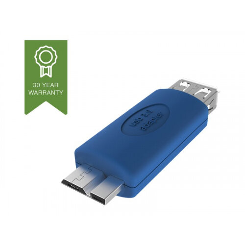 Vision - USB adapter - Micro-USB Type B (F) to USB Type A (M) - USB 3.0 - blue