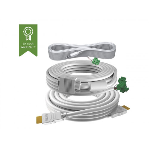 VISION Techconnect 3 - Video / audio cable kit - 5 m - white