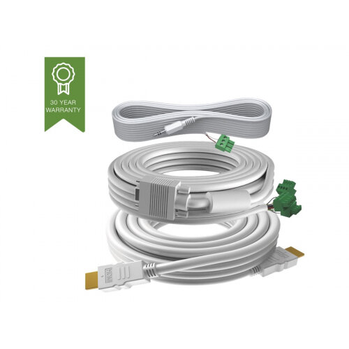 VISION Techconnect 3 - Video / audio cable kit - 15 m - white