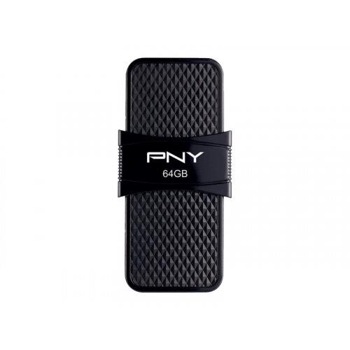 PNY Duo-Link On-the-Go - USB flash drive - 64 GB - USB 3.1 / micro USB