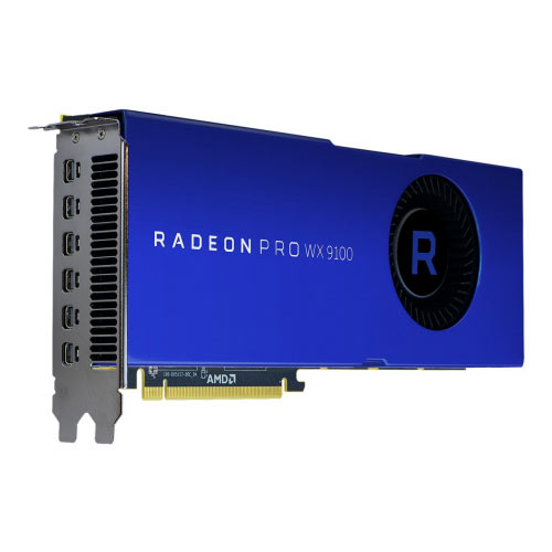 Radeon Pro WX 9100 - Graphics card - Radeon Pro WX 9100 - 16 GB HBM2 - PCIe 3.0 x16 - 6 x Mini DisplayPort