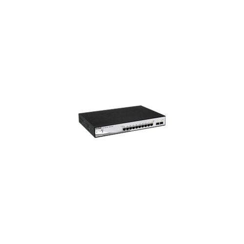 D-Link Web Smart DGS-1210-10MP - Switch - L2+ - smart - 8 x 10/100/1000 (PoE+) + 2 x Gigabit SFP - desktop - PoE+ (130 W)