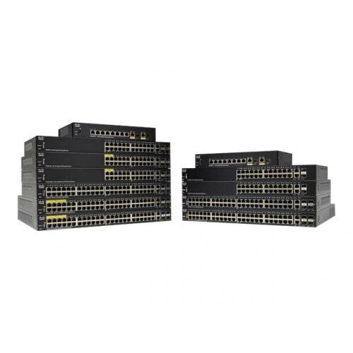 Cisco 350 Series SG350-20 - Switch - L3 - Managed - 16 x 10/100/1000 + 2 x Gigabit SFP + 2 x combo Gigabit SFP - rack-mountable