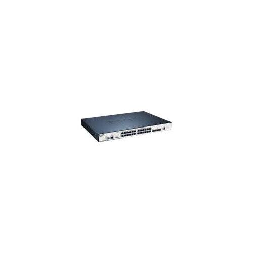 D-Link xStack DGS-3120-24PC - Switch - Managed - 20 x 10/100/1000 + 4 x combo SFP - desktop - PoE