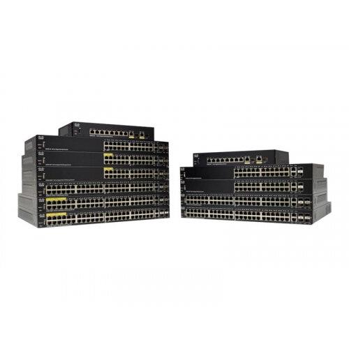 Cisco 250 Series SG250-50P - Switch - L3 - smart - 48 x 10/100/1000 (PoE+) + 2 x combo Gigabit Ethernet/Gigabit SFP - rack-mountable - PoE+ (375 W)