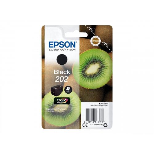 Epson 202 - 6.9 ml - black - original - blister - ink cartridge - for Expression Premium XP-6000, XP-6005