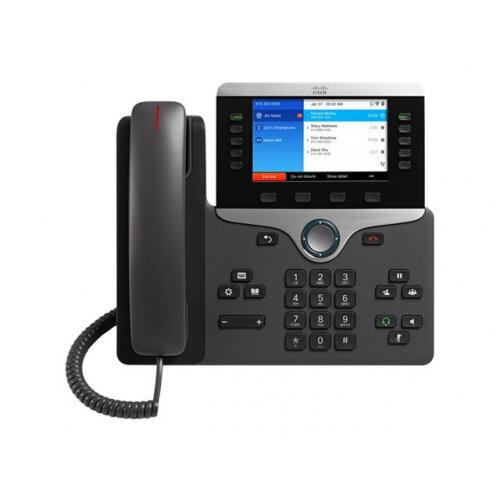 Cisco IP Phone 8861 - VoIP phone - IEEE 802.11a/b/g/n/ac (Wi-Fi) - SIP, RTCP, RTP, SRTP, SDP - charcoal