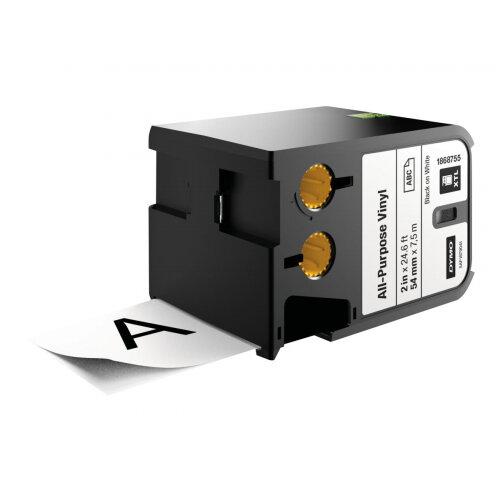 DYMO XTL - Vinyl - black on white - Roll (5.4 cm x 7.5 m) 1 roll(s) labels - for XTL 500