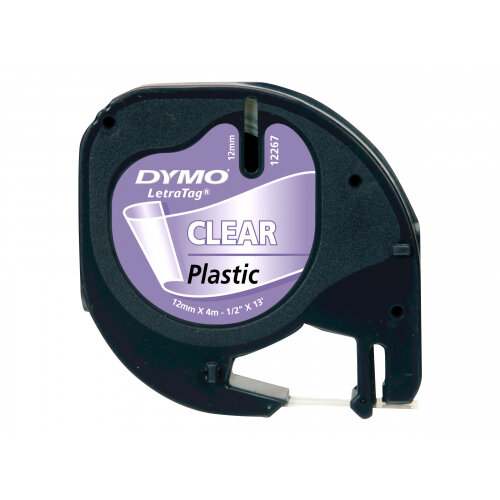 DYMO LetraTAG - Plastic - transparent - Roll (1.2 cm x 4 m) 1 roll(s) tape - for LetraTag LT-100H, LT-100T