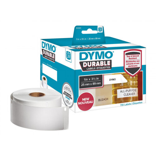 DYMO LabelWriter Address - Adhesive - white - 89 x 25 mm 700 label(s) (2 roll(s) x 350) labels