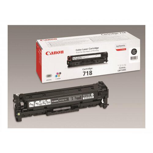 Canon 718 Black - 2-pack - black - original - toner cartridge - for i-SENSYS LBP7210, LBP7680, MF728, MF729, MF8340, MF8360, MF8380, MF8540, MF8550, MF8580