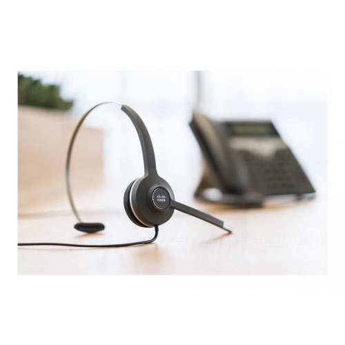 Cisco 531 Wired Single - Headset - on-ear - wired - for Cisco DX70 - MSRP, DX80 (No Radio); IP Phone 8865NR