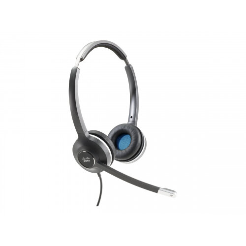 Cisco 532 Wired Dual - Headset - on-ear - wired - for Cisco DX70 - MSRP, DX80 (No Radio); IP Phone 8865NR